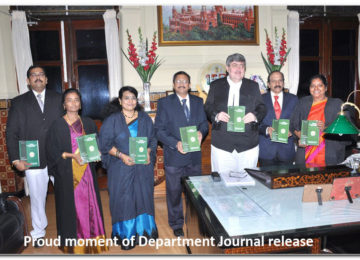 Proud moment of Department Journal release