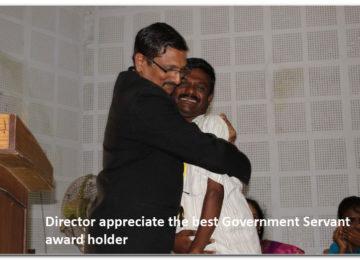 Director appreciate the best Government Servant award holder