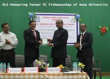 DLS Honouring Former VC Vishwanathan of Anna University