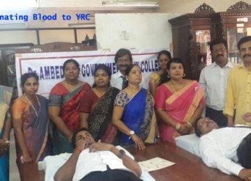 DLS donating Blood to YRC